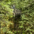 View of High Bridge.- Eagle Creek Hike to Tunnel Falls