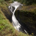 Crossover Falls, just above Tunnel Falls.- Eagle Creek Hike to Tunnel Falls
