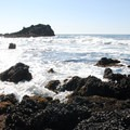 Looking south from tide pools.- Yaquina Head Outstanding Natural Area