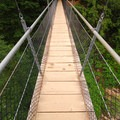 The Drift Creek Falls suspension bridge.- Drift Creek Falls Hike