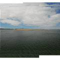 View south of Siletz Bay at low tide.- Salishan Spit