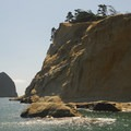 Cape Kiwanda headland and Haystack Rock.- Cape Kiwanda State Natural Area
