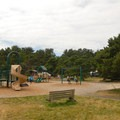 Playground at South Beach State Park Campground.- South Beach State Park