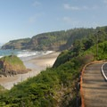 View of Short Beach and Cape Meares from Bayshore Drive.- Short Beach