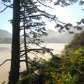 View back toward Neskowin from Proposal Rock.- Neskowin Beach State Recreation Site