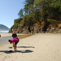 Neskowin Creek and Proposal Rock.- Neskowin Beach State Recreation Site