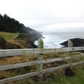 View south toward Cape Foulweather.- Rocky Creek State Scenic Viewpoint