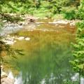 East Fork Lewis River at Moulton Falls Park.- Moulton Falls
