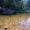 Swimming hole at Washougal River Road, mile marker 3.- Washougal River, Miles 3-5