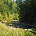 Swimming hole at Washougal River Road, mile marker 4.7.- Washougal River, Miles 3-5