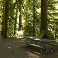 Picnic area at the parking lot.- Salmon Falls
