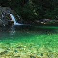 Salmon Falls on the North Fork of the Santiam River.- Salmon Falls
