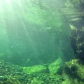 The North Fork of the Santiam River's emerald waters.- Three Pools