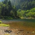 Clackamas River at the Big Eddy Picnic Area.- Big Eddy Picnic Area