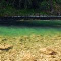 Carter Bridge swimming hole on the Clackamas River.- Carter Bridge Day Use Area