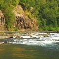View of Clackamas River from Carter Bridge Campground.- Carter Bridge Campground