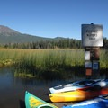Boat launch at Hosmer Lake.- Hosmer Lake Canoe/Kayak