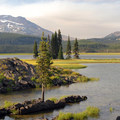 View of Sparks Lake and the South Sister (10,358 ft) from the Ray Adkinson Hiking Trail.- Sparks Lake