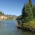 Devils Lake looking east.- Devils Lake
