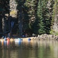 Boat-in only campsite at Sparks Lake.- Sparks Lake Shoreline Campsites