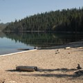 Elk Lake from the Sunset View beach and day-use area.- Elk Lake