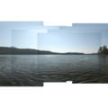 View of Elk Lake, looking south from the northwestern shore.- Elk Lake