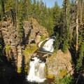 The lower portion of Double Falls along Tumalo Creek.- Tumalo Falls + Creek Hike