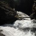 The upper portion of Double Falls along Tumalo Creek.- Tumalo Falls + Creek Hike