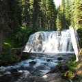 Unnamed waterfall along the upper portion of Tumalo Creek.- Tumalo Falls + Creek Hike