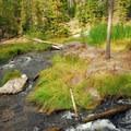 Paulina Creek above Paulina Falls.- Paulina Falls