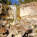 Paulina Falls from the lower viewpoint.- Paulina Falls