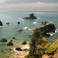 View looking out into the Pacific Ocean from Ecola State Park's southern day-use area.- Ecola State Park