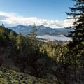 View northwest toward Washington's Table Mountan (3,558').- Pacific Crest Falls Hike via Herman Bridge Trail