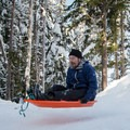 A little sculpting can spice up a short and steep run.- Trillium Lake Sledding