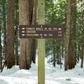 The route follows the Bridle Trail.- Glacier View Ski + Snowshoe Loop Trail