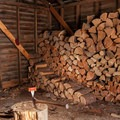 Keep the wood cut for the next guest.- Fivemile Butte