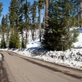Sun takes its toll on the snowpack as well.- Clear Lake Butte Loop