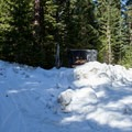 The turn off to Little Crater Lake Campground.- Clear Lake Butte Loop