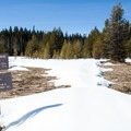 The snowmobile club also constructed the trail to Little Crater Lake.- Clear Lake Butte Loop