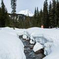 Clark Creek flowing off of Mount Hood.- Heather Canyon Ski + Snowshoe Trail