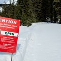 The area has seen some intense avalanche activity in the past.- Heather Canyon Ski + Snowshoe Trail