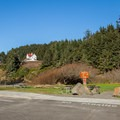 The parking area for Heceta Head.- Heceta Head Lighthouse