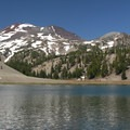The South Sister (10,358') and Moraine Lake.- Three Sisters Wilderness