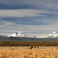 Left to right: Broken Top (9,177'), South Sister (10,358'), Middle Sister (10,047') and North Sister (10,085').- Three Sisters Wilderness