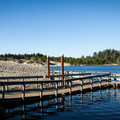 Cleawox Lake and an old fishing pier that has since been replaced.- Honeyman State Park