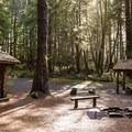 Shelters at Hiker's Camp.- Tillamook Head Hike
