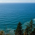 View west from the viewpoint near Hiker's Camp. - Tillamook Head Hike