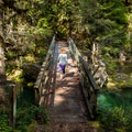 Crossing to Lund Campground on the Brice Creek Trail.- Brice Creek Trail, West Trailhead to Lund Campground Hike
