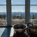 Cooking with Mount Jefferson in view.- Clear Lake Butte Lookout