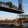 Approaching the Hawthorne Bridge.- Willamette River: George Rogers Park to Cathedral Park